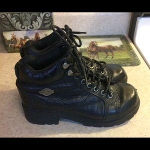 Harley Davidson black boots